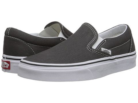 Vans Classic Slip-On™ Core Classics Black/Black (Canvas) - Zappos.com Free Shipping BOTH Ways