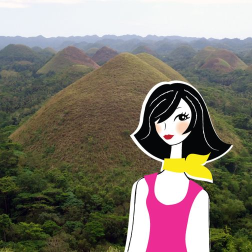 Girls travel: Nicky says hello from Philippines! #illustration #travel #philippines