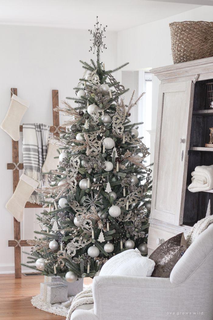Our Beautiful New Tree Beautiful Christmas Christmas Tree Decorations Christmas Home