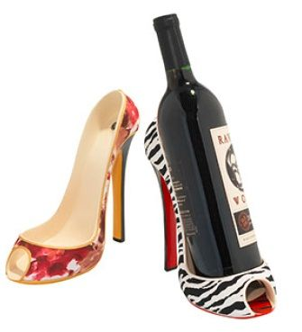 Leopard high heel. As a wine holder? Yes please!