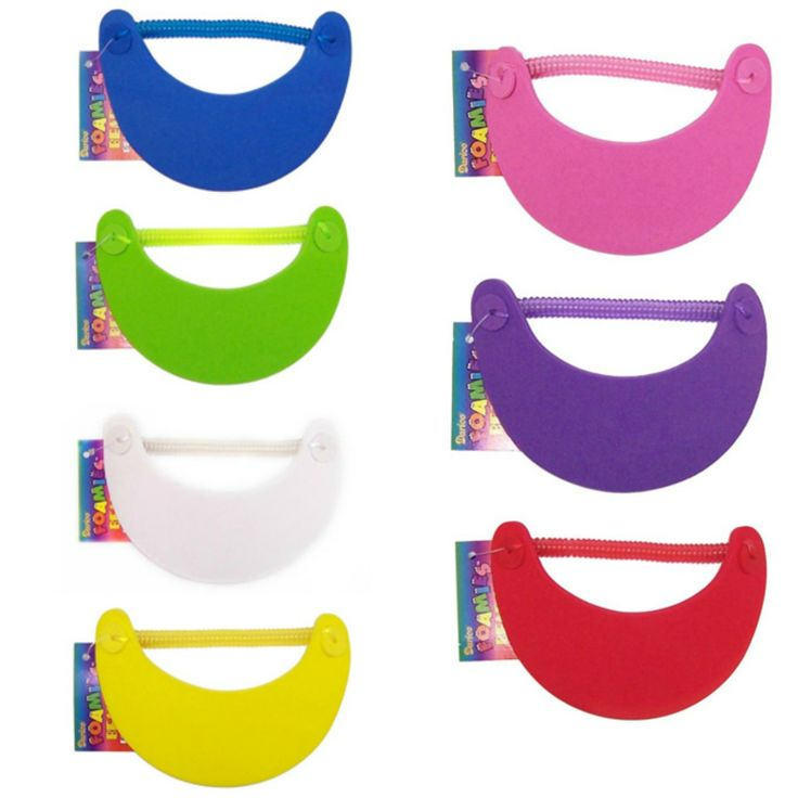 Great for sunny days, this sun visor has an expandable strap for easy fit.  These sun visors are sold individually so please select your colour when adding to your shopping cart.  Available in blue, green, yellow, white, red, pink and purple.