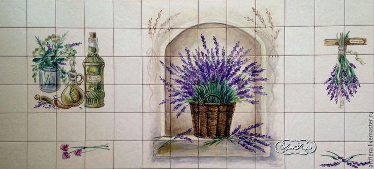 Купить Роспись плитки Роспись керамики Фартук для кухни Прованс - Роспись плитки, роспись керамики