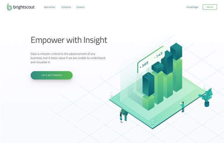 Business intelligence page   hero illustration dribble real pixel