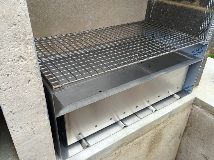 Custom made, stainless steel barbecue