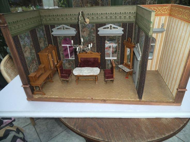Seltene, außergewöhnliche Puppenstube, Gehäuse ,2 Zimmer
