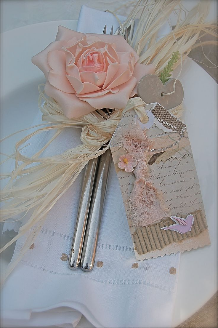 12 Vintage FRENCH Shabby Chic Style Save the Date WEDDING Favors or GIFT Altered Embellished Tags. $18,00, via Etsy.: