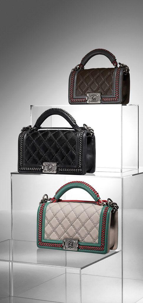 Chanel ~ Calfskin Boy Flap Bag.