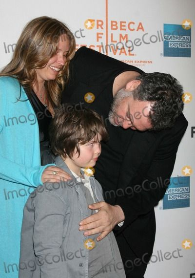 """NYC  05/03/08 Vincent D'Onofrio, wife Carin van  der Donk and son Elias (8 years old) premiere of the new movie """"Speed  Racer"""" at the Tribeca Film Festival. Digital Photo by Adam Nemser-PHOTOlink.net"""