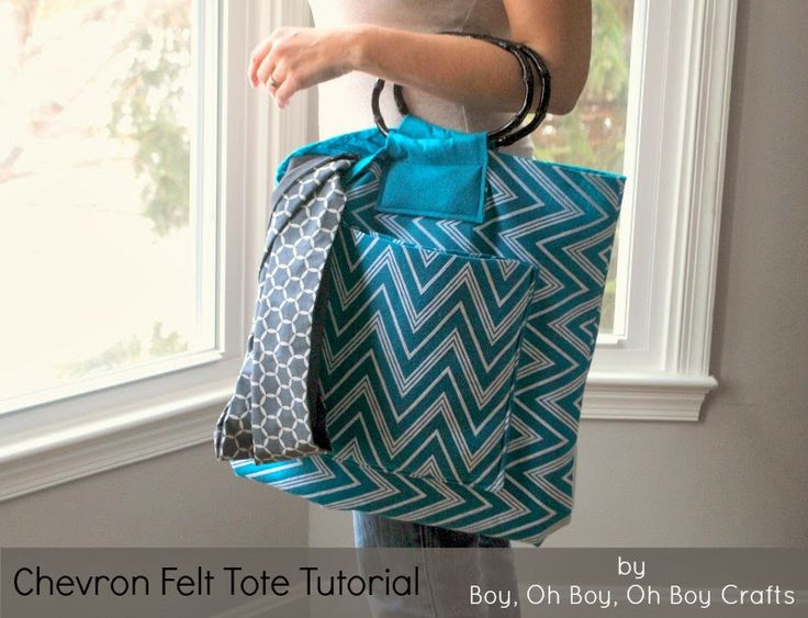 Boy, Oh Boy, Oh Boy Crafts: National Craft Month: Oversized Chevron Felt Tote Tutorial