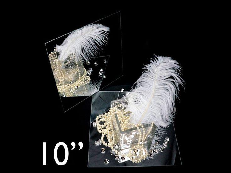 """12 pcs x Square 10"""" Glass MIRROR Wedding Centerpieces #LeilaniWholesale"""