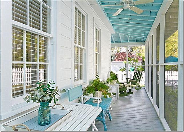 31 Best Haint Blue Porch Ceilings Images On Pinterest