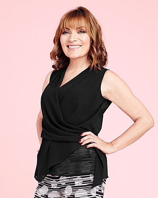 Lorraine Kelly Check Longline Shirt | J D Williams. Hair and Make Up by Helen Hand using the Cloud Nine Wand