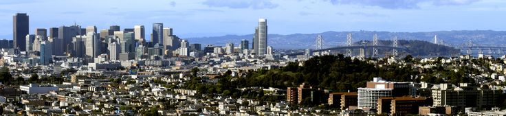 It was an absolutely gorgeous day in San Francisco yesterday! Panorama from Bernal Hill.