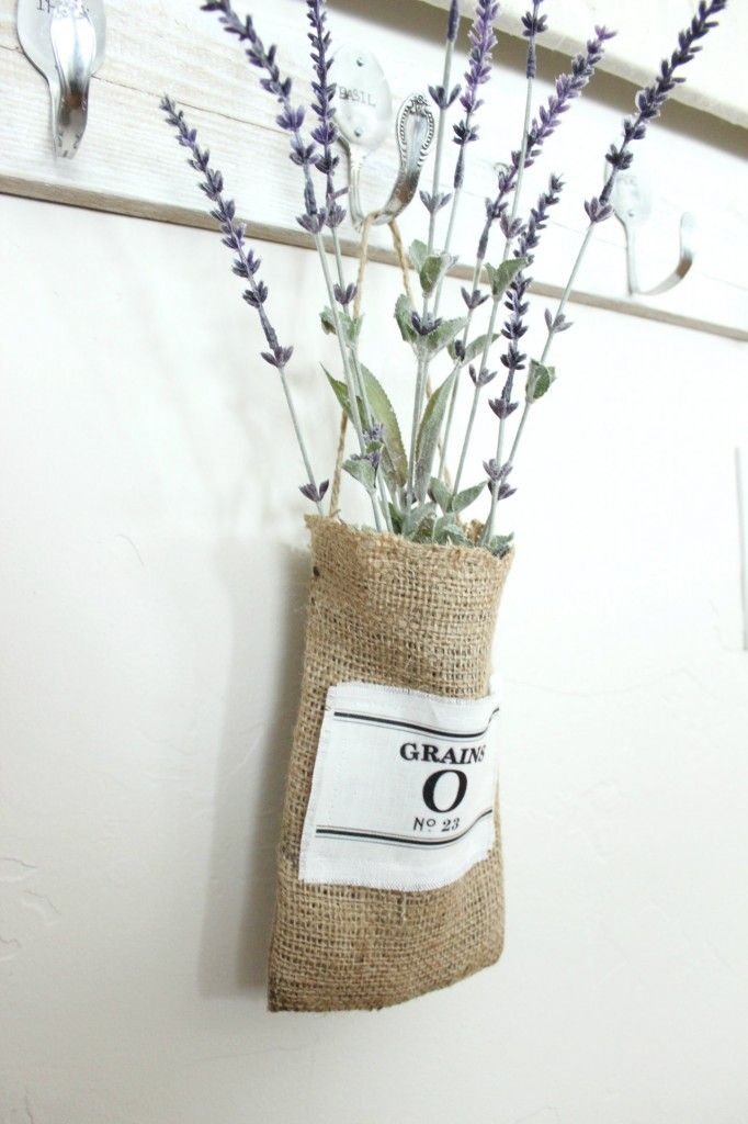 DIY Burlap Pouch -repurpose those basmati rice bags! w/ Grain Sack Logo-use transfer paper with printed image to iron onto burlap. An easy beginning sewing project to try...
