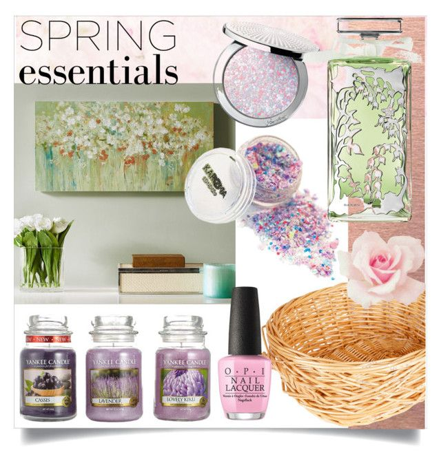 """""""#springessentials #polyvore #contest"""" by vikapranika on Polyvore featuring beauty, Madison Park, Household Essentials, Yankee Candle, Guerlain and OPI"""