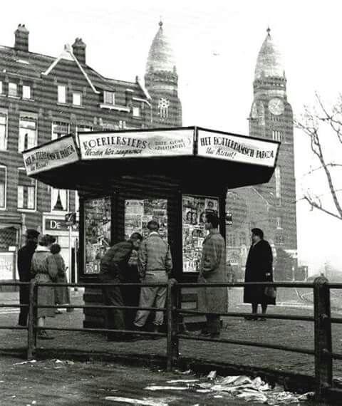 Boezemsingel met op de achtergrond de reeds afgebroken Koninginnekerk
