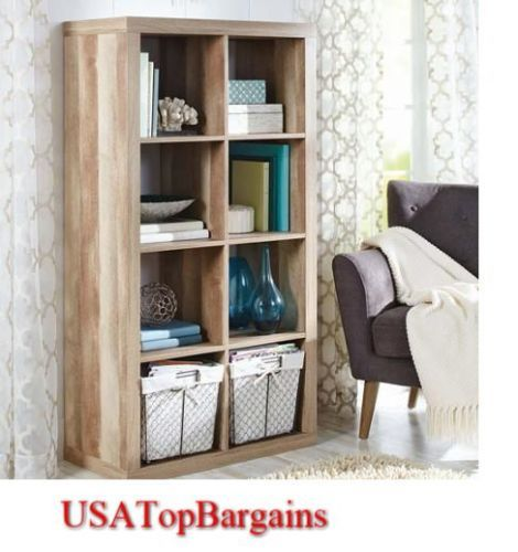 Be organized and stylish with this Rustic Storage Cubes 8-Cube Organizer Display Unit Closet Bookcase Shelf Box Bin