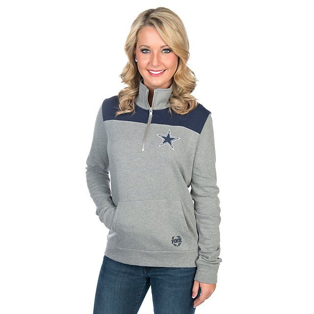 Dallas Cowboys PINK Campus Quarter-Zip Pullover  | Outerwear | Other | Womens | Cowboys Catalog | Dallas Cowboys Pro Shop