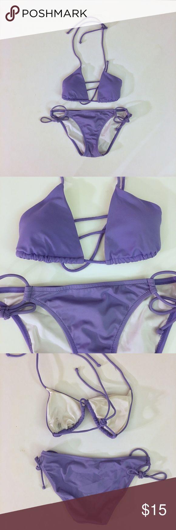Victoria's Secret Purple Triangle Bikini Set - XS Victoria's Secret Purple Triangle Bikini Set - Size XS - triangle Bikini top - low rise bottoms Victoria's Secret Swim Bikinis