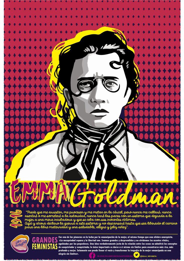 feminista emma goldman |grandes feministas #ollarevuelta --->>>http://bit.ly/29WJNuJ