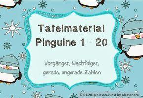 www.klassenkunst….: Mathe, zählen, Vorgänger und Nachfolger – Zahlen 1 bis 2…