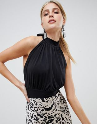 5b0d406fc3 DESIGN gathered halter neck top with open back in 2019