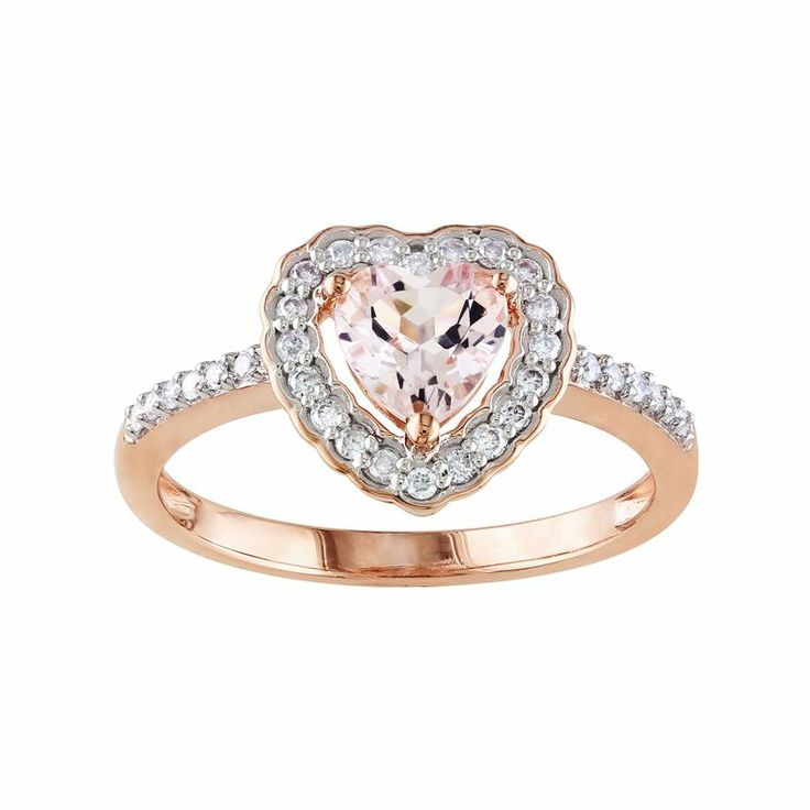 jcpenney 10k gold pink morganite ring