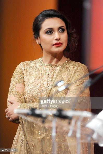 News Photo : Actress Rani Mukerji are seen onstage as she...