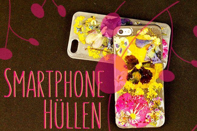 Ein individuelles Geschenk? Smartphone Hülle selber gestalten - eine persönliche und wunderschöne Art mit getrockneten Blumen - Anleitung auf meinem Blog.