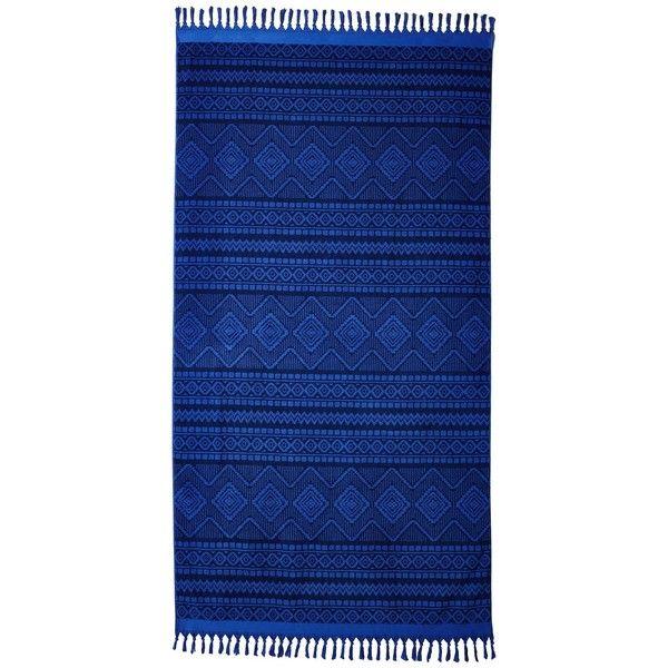 Vera Bradley Tassel Beach Towel (Aztec Cobalt) Bath Towels found on Polyvore featuring home, bed & bath, bath, beach towels, vera bradley, cotton beach towels, aztec beach towel and vera bradley beach towel
