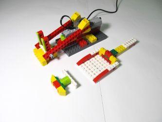 Lego Wedo | Инструкция по сборке Перекидывателя деталей | Roboproject.ru