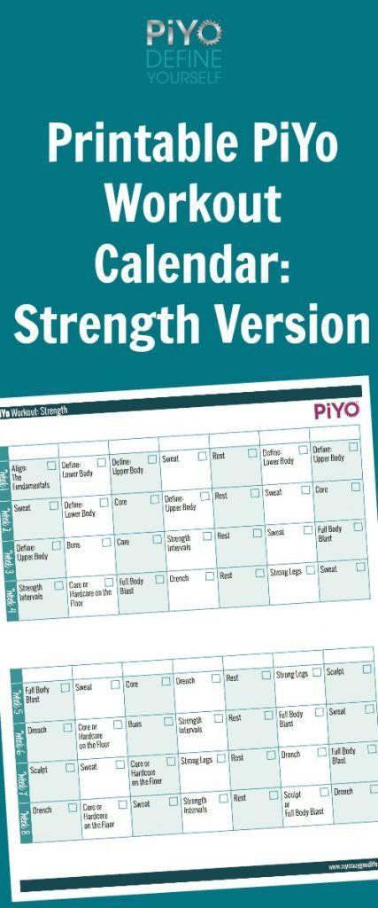 Best 25+ Piyo workout calendar ideas on Pinterest Piyo strength - workout calendar