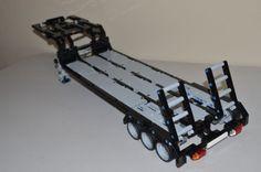 LEGO-TECHNIC-BLACK-GRAY-CUSTOM-FLATBED-TRAILER-25-Long-8258-8285-8436-9397-42043