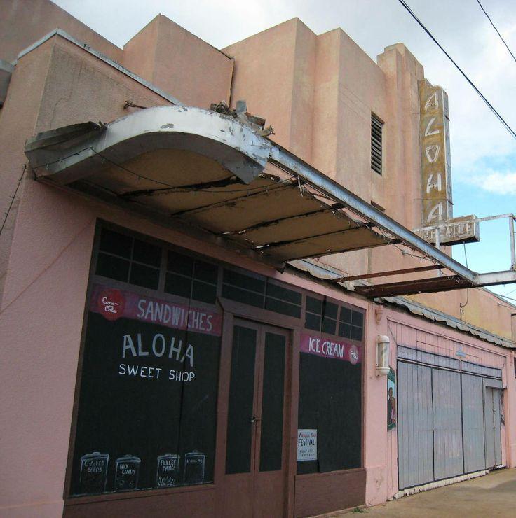 Gorgeous old Theatre at Hanapepe, Kauai, HI....devastated after Hurricane Iniki
