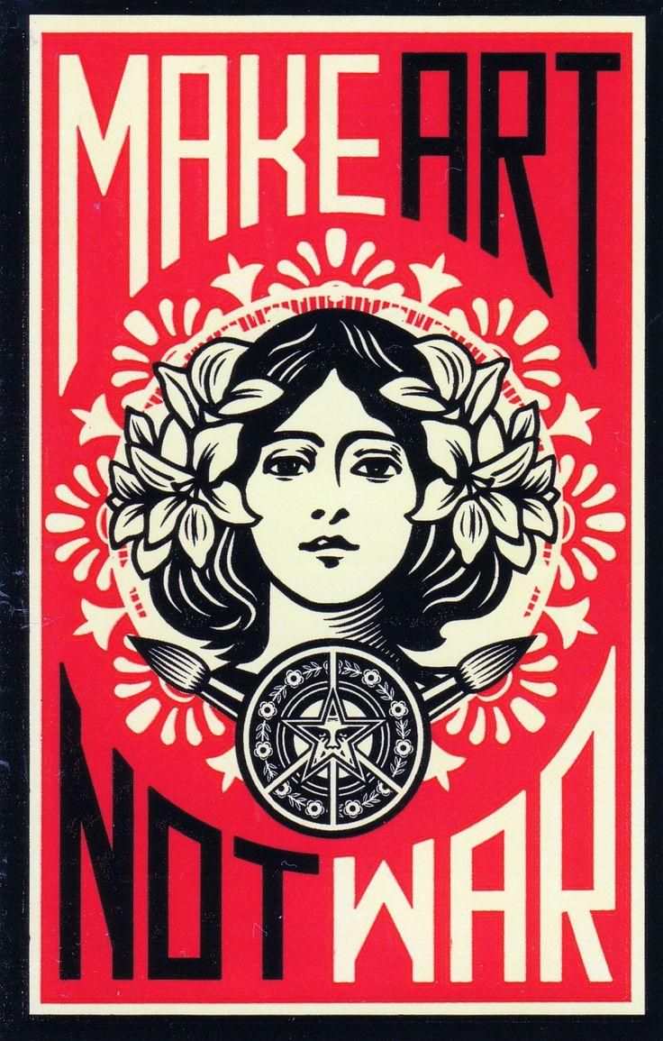 Obey Make Art not War Sheppard Fairey Kidrobot Graffiti Stickers   eBay