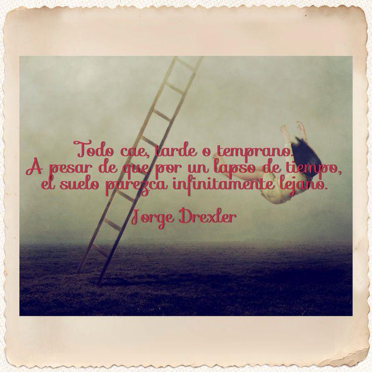 "Frase de la canción ""Todo Cae"" de Jorge Drexler."