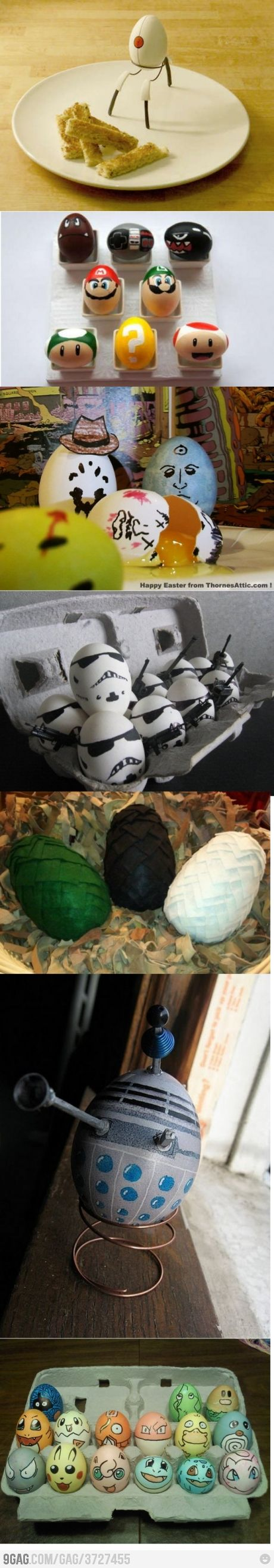 nerd eggs for Easter. Especially like the dragon eggs from Game of Thrones