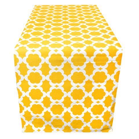Table runner in yellow $29.95 at recline.co.nz