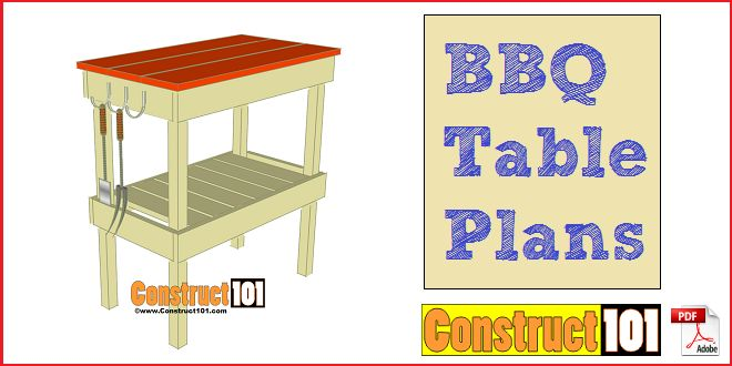 BBQ Table Plans - Construct101