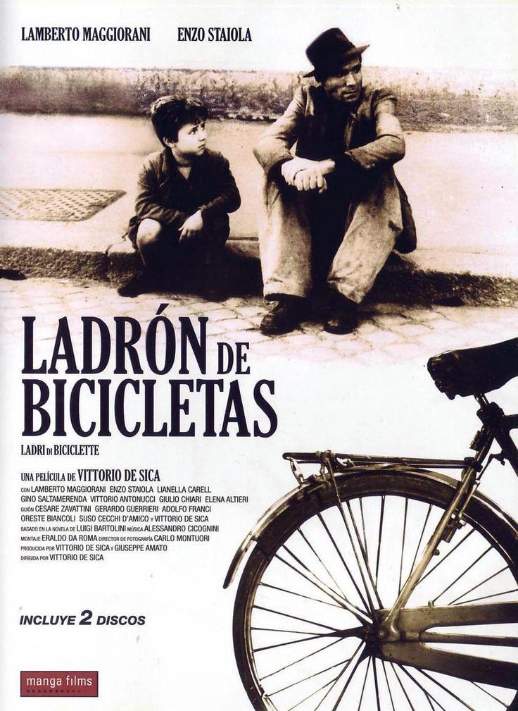 Ladrón de bicicletas (1948) Italia. Dir: Vittorio De Sica. Drama. Pobreza. Familia. Neorrealismo. Anos 40 (Italia) - DVD CINE 1525