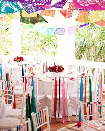 "Colorful ""fiesta""-themed dinner"