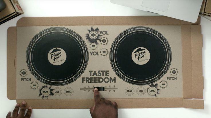 WTF! This pizza box doubles as a WORKING set of DJ decks  - DigitalSpy.com