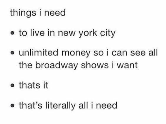 oh, and there's one more thing: BEING ON BROADWAY