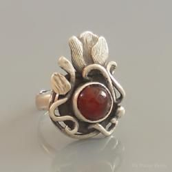 art jewelry, silver, ring, hand made, agate