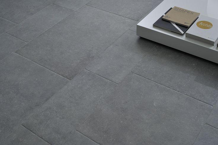 Prachtige getrommelde kasteelvloer in module (19-NO-02) bestaande uit 60x90, 60x60 en 30x60, (kasteelvloer, keramische vloertegels, plavuizen, tegelvloer, woonkamer) Tegelhuys