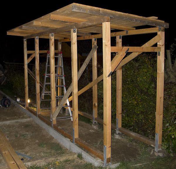 Bau eines Holzlagers – aubenkuche.diyhomedesigner.com