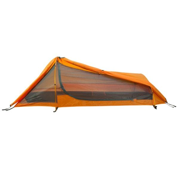 """Cover: Winterial Single Person Tent, Personal Bivy Tent. Lightweight 2 Pounds 9 Ounces.  Single Person Tent with Two Hoop Easy To Assemble Bivy Tent Bivy Tent Sleeps One Person. Ventalated Roof Mesh With a Full Coverage Rain Fly for Colder/Rainy Weather Packed weight: 3 pounds. Packed Size: 18"""" x 4.5"""" x 4"""" Large Zippered door for easy access. Includes 3 bundles of rope and 14 Heavy Duty Stakes To Firmly Secure."""