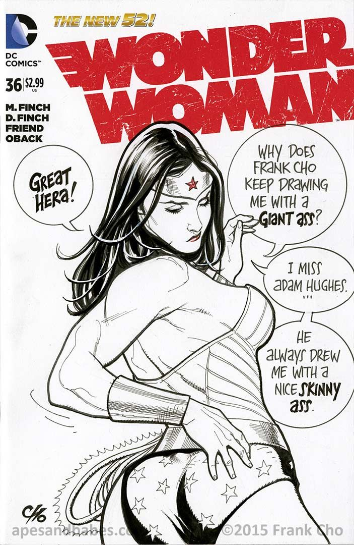 Wonder Woman #36 sketch cover by Frank Cho