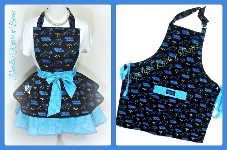 Carolina Panthers Apron, Mens Apron, Womens Apron, Unisex, Tailgating, Football, Game Day, Gifts for Men, Aprons