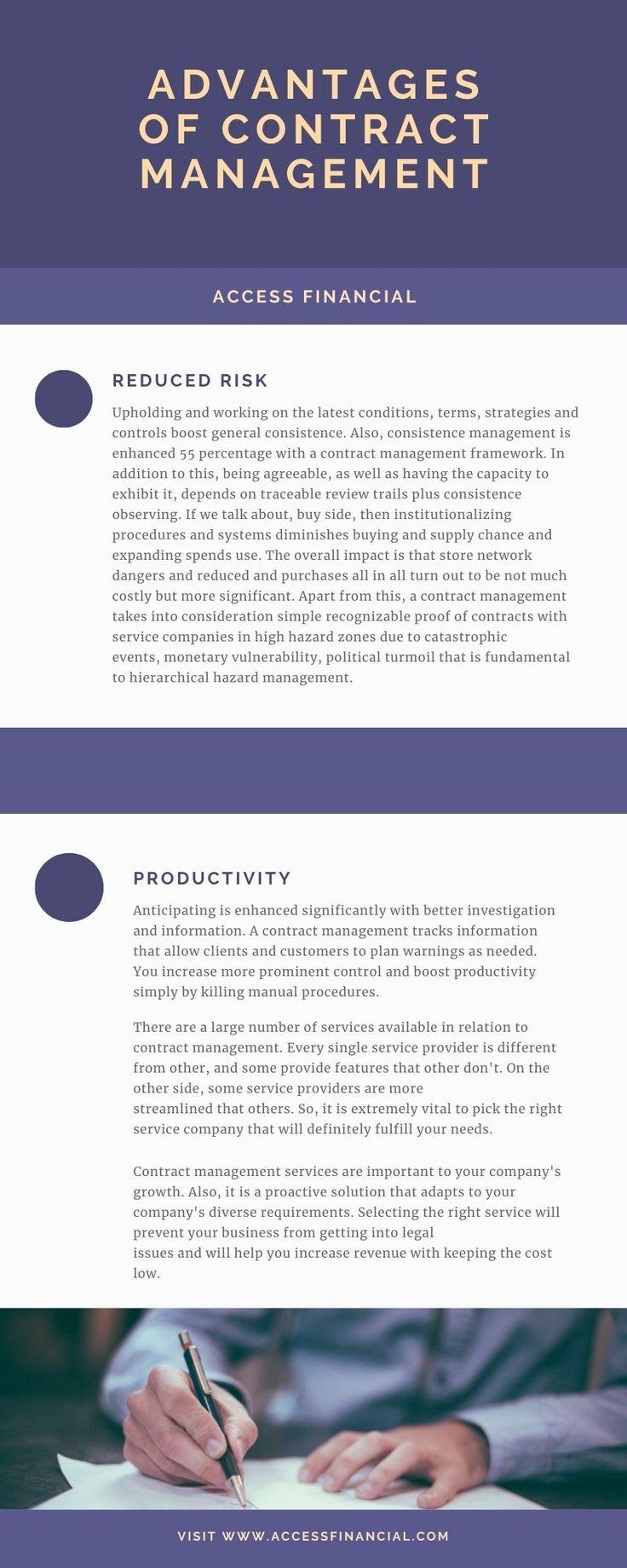 Advantages of contract management